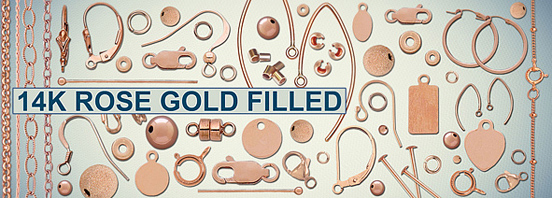 Rose Gold Filled Findings 6